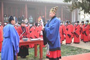 盐山庆云文庙重修落成仪式举行,孔繁义会长应邀出席活动。